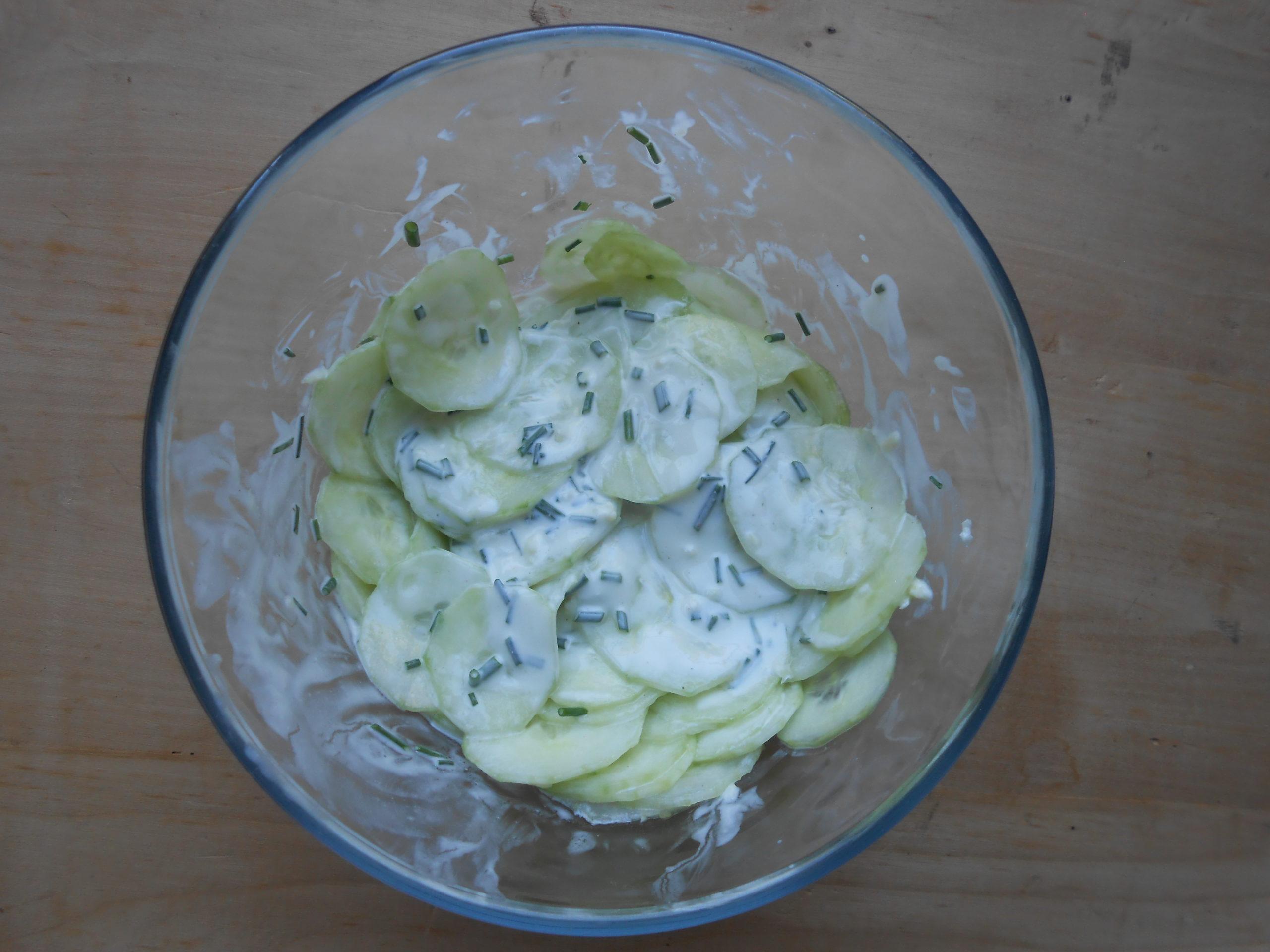 Concombre à la sauce yaourt