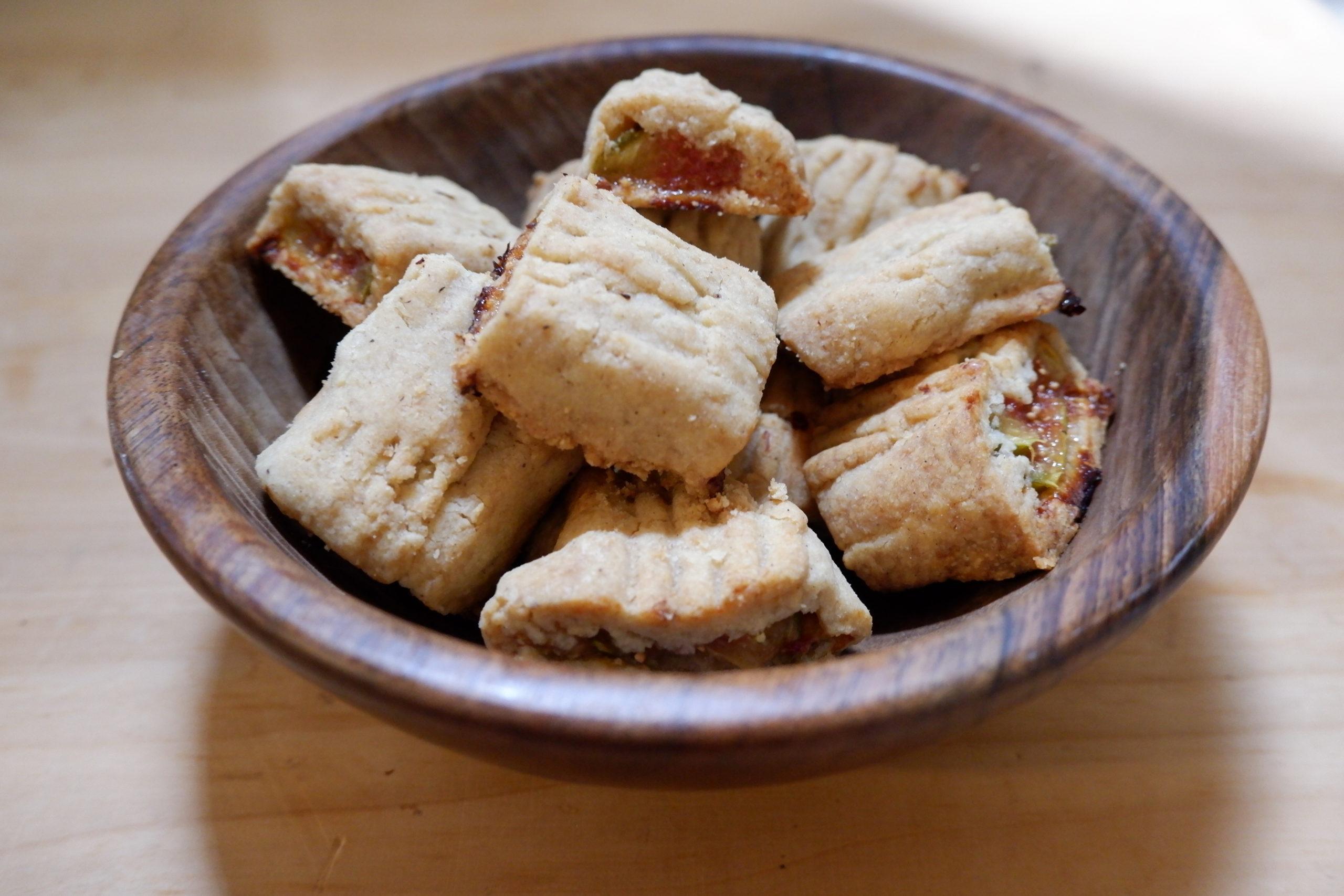 Biscuits fourrés aux figues